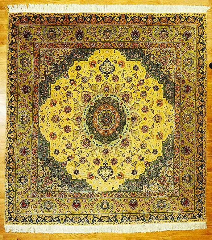 tappeto tabriz misto seta 200x200 2500euro 5